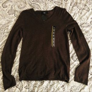 Mossimo Brown V Neck Sweater Size Small NWT